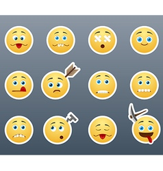 Crazy emoticons vector