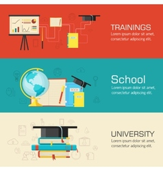 Education distance online and academic school vector