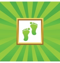 Footprint picture icon vector