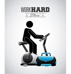 Hard work design vector