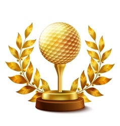 Golden golf award vector