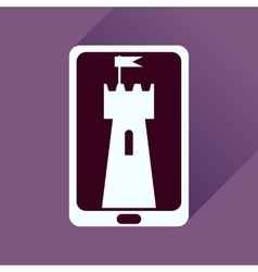 Flat icon with long shadow mobile applications vector