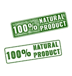 Realistic natural product rubber stamp vector