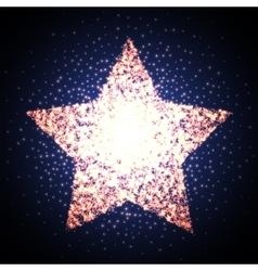 Retro star glowing light banner award shiny vector