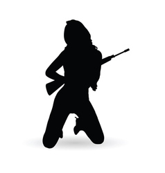 Girl with gun vector