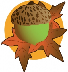 Acorn graphic vector
