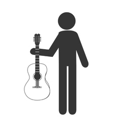 Musician with instrument vector