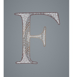 Abstract letter F vector image
