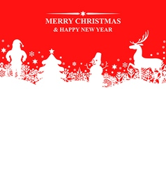 Banner x mas red vector