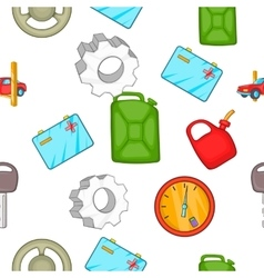 Car repairs pattern cartoon style vector