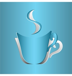 Coffee cup cutout vector