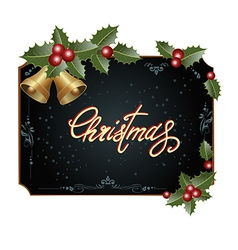 frame with Christmas decorations vector image