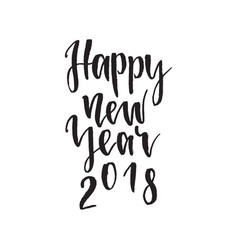 happy new year 2018 inspirational quote about vector image vector image