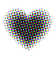 Heart halftone vector