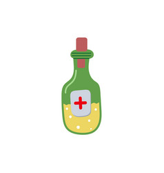 Medicine bottle flat isolated vector