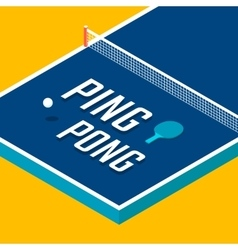 Ping-pong posters design vector image vector image