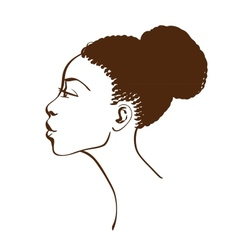 Portrait of beautiful woman profile vector image