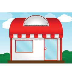 Red roof store vector image