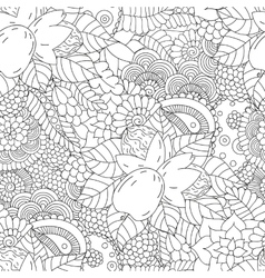 Seamless pattern black and white walnut vector