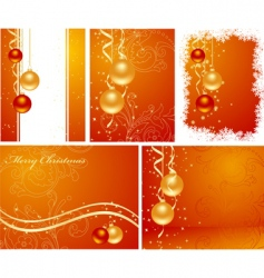 set christmas backgrounds vector image vector image