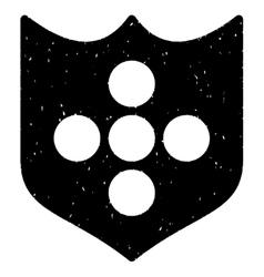 Shield grainy texture icon vector