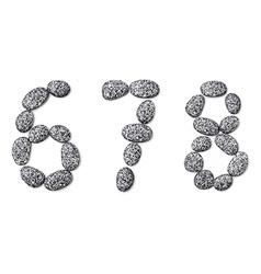 Stone font vector