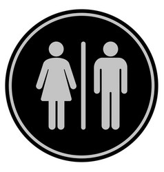 Wc persons black coin vector