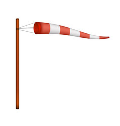 Windsock in red and white design vector