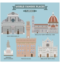 Florence famous places vector
