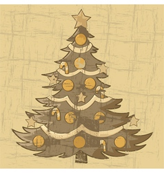 Old Christmas card vector image
