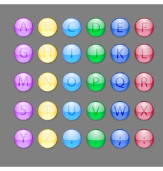 Alphabet buttons vector image