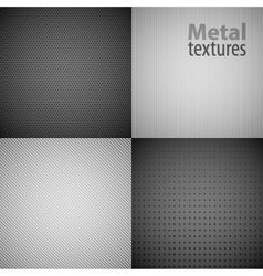 4 metal texture backgrounds vector