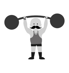 Strongman circus cartoon vector image