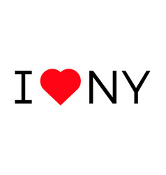 I love ny popular symbol heart vector