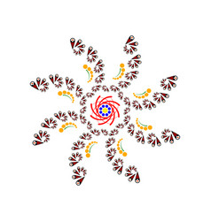 Pattern in the form of a flower vector