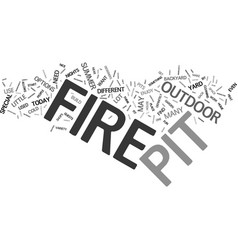 Fire pit essentials text background word cloud vector