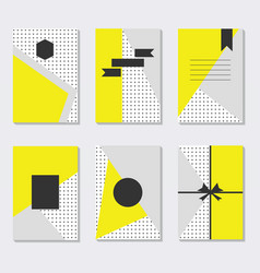 Cute and trendy assorted yellow gray and white vector
