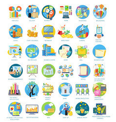 Set of busines icons vector