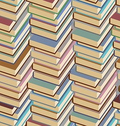Stack of books seamless pattern background vector