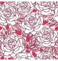 Seamless pattern background of rose flowers vector