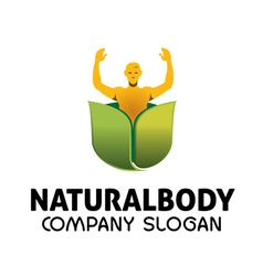 Natural body design vector