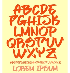 Graffiti font - hand written - alphabet vector