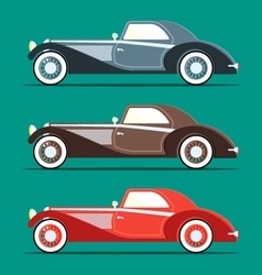 Retro car in flat style vector