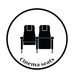 Cinema seats icon vector