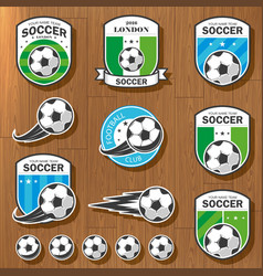 Set of football logos vector image