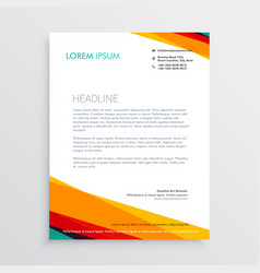 abstract colorful letterhead design template for vector image vector image