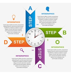 Abstract infographic with colorful arrows and vector image vector image