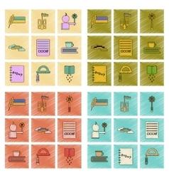assembly flat shading style icon Ukrainian school vector image