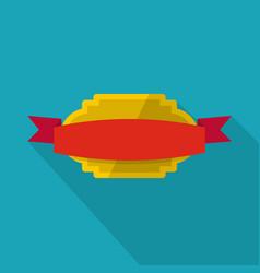badge premium quality icon flat style vector image