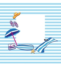 Beach summer accessories vector